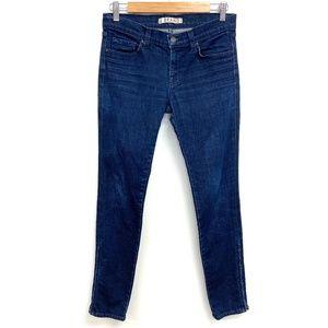 J Brand | Mid Rise Skinny Jeans Dark Wash Side Zip